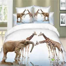 unique modern 3d animal print elephant and giraffe bedding set queen pertaining to comforter plans 15