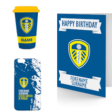 leeds united personalised gifts
