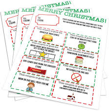 Christmas Gift Coupon Christmas Gift Coupons Given To Kids From Parents On Christmas