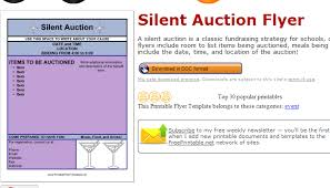 silent auction program template silent auction bid sheets free google search fundraising