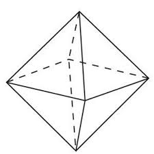 The octahedron is a harmonic figure to Rubik's Cube with its topology numbered by 6,8, and 12. It shares the cube's 12 edges.