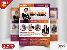 Business Conference Flyer Template Psd By Psd Zone On Dribbble