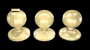 low poly round door handles 3d model low poly obj mtl 3ds fbx blend x3d