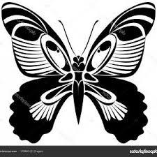 Butterfly Vector Art Stencil Tattoo T Shirt Print Butterfly Black