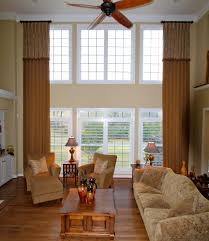 Two Story Living Room Curtains Two Story Living Room Curtains Designs Rodanluo
