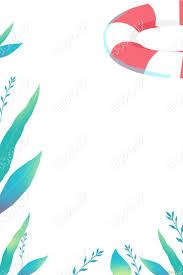 フレームプールさわやかポスター夏png素材psdaieps