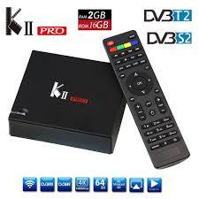 DVB S2 DVB T2 MECOOL KII PRO Android 7.1 TV Box Amlogic ...