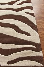 brown cream wool zebra print rug future room paradise with regard to prepare 1