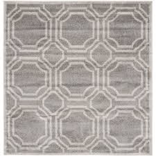 safavieh amherst indoor outdoor grey light grey rug 7 square
