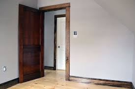 Inspiring White Interior Doors With Stained Wood Trim Zhisme For