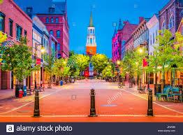 Burlington Usa Vermont Church - Street At Photo Alamy 151314576 Marketplace Stock