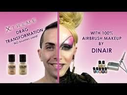 extreme drag transformation with 100 dinair airbrush makeup trucco aerografo drag nina flowers you