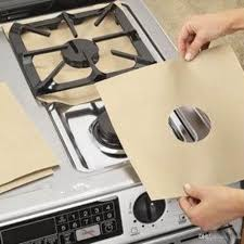 gas stove burner cover. Reusable Aluminum Foil Gas Stove Burner Cover Protector Liner Clean Mat Pad File Injuries Protection