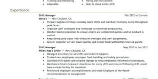 fast food cook resumes fast food resume cashier duties resume and responsibilities food
