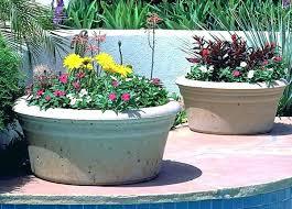 large cement planters. Large Concrete Planters Cement Garden Low Bowl Outdoor A