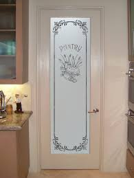 interior door and elegant white painted wooden pantry doors with limited glass painting designs for kitchen