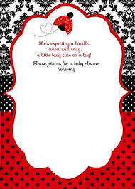 ladybug Baby Shower Invitation Template 2 | Invitations Online
