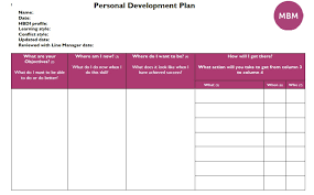 personal development plans sample personal development plan examples identify your goals mbm