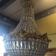 woman face chandelier large antique french woman head caged basket brass empire bowl 3