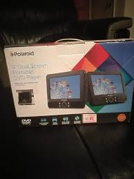 polaroid 9 inch dual screen dvd player playes usb sd catds