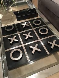 Naughts And Crosses Wooden Game Adorable Giant Black Silver Noughts Crosses Board Mulberry Moon