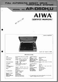 aiwa ap d50 service manual analog alley manuals disassembly adjustments exploded views parts list troubleshooting chart notes semiconductors schematic diagrams board wiring diagrams