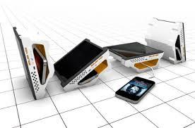 portable solar power station. solar vox, a portable sun-powered charging station. the power station f