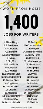 work at home job leads for writers make an article  huge list of work at home writing jobs