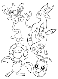 Pokemon Coloring Pages Espeon Pokemon Coloring Pages Sylveon
