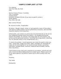 Letter Of Complain Format Letter Of Complaint Example Valid Formal Letter Format Plaint
