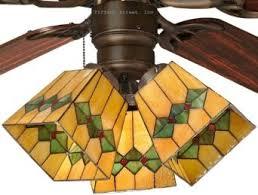 stained glass ceiling fan. Stained Glass Ceiling Fan Light Shades Photo - 5
