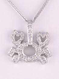 diamond crab pendant necklace in 18kt white gold