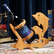 Decorative Wine Bottle Holders Dolphin Creative Bamboo Wine Rack Eco Friendly Home Crafts Wine 36