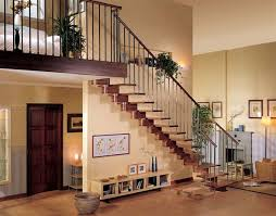 inside wood stairs
