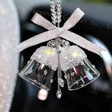 china crystal glass bell for decoration personalized car hanging ornament china crystal crystal gift