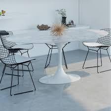 Saarinen Tulip Oval Marble Dining Table. >