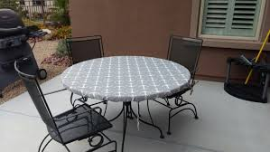 full size of accessories stunning round gray vinyl elastic table covers round outdoor table metal