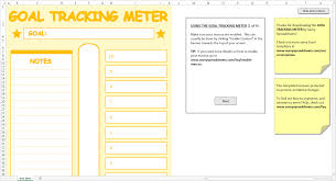 Goal Tracking Template Goal Tracking Meter Excel Template Savvy Spreadsheets 1