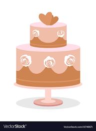 Flat Wedding Cake Designs Wedding Cake In Flat Design