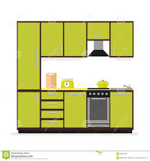 Small Picture Kitchen Set Modern Kitchen Furniture In A Flat Style Isolated On