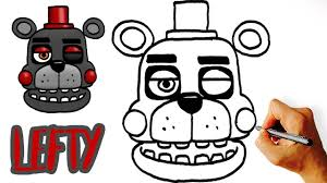 very easy how to draw lefty fnaf 6
