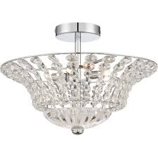the crowne also from quoizel is designed to bring elegance to your low ceiling room it s a lovely combination of crystal glass faceted beads and polished