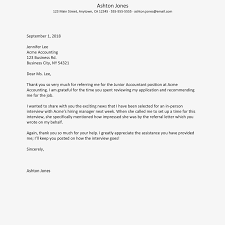 Job Offer Thank You Letter Thank You Letter For A Job Referral