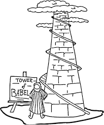 Small Picture Tower of Babel Coloring Pages Coloring Me