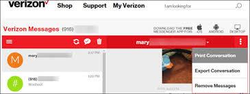 Text Essages My Verizon Website Print Text Messages Verizon Wireless