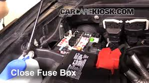 replace a fuse 2015 2016 ford f 150 2015 ford f 150 xlt 3 5l v6 2015 f150 fuse box diagram 6 replace cover secure the cover and test component