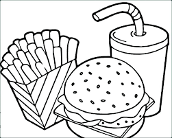 Restaurant Coloring Page New Unique Hamburger And Fries Coloring Page Swisswatchlove