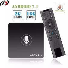 Smart TV Box A95X Pro 2G RAM 16G ROM Dukungan Youtube 4K HD Android 7.1 TV  Box kontrol Suara Amlogic S905W Kotak WiFi TV Media Bermain|Set-top Box