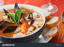 Bowl Fresh Seafood Soup Stock Photo ...