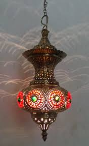 moroccan style pendant light with metal shade